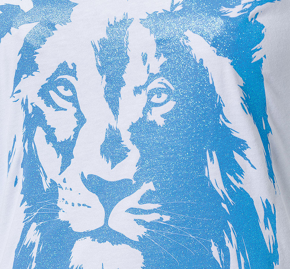 Lady T-Shirt Lion Glitzer Bild 2