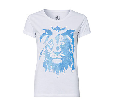 Lady T-Shirt Lion Glitzer