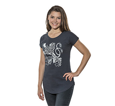 Lady T-Shirt Rivet Longcut